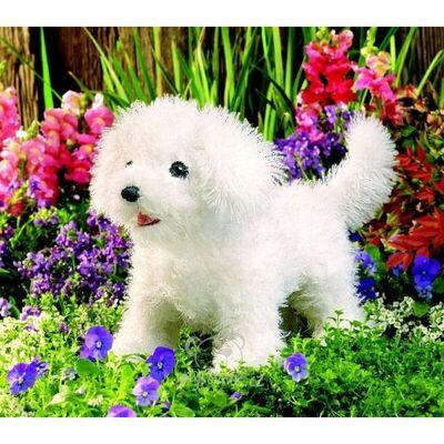 Plyšová hračka: Pes bišonek plyšový | Folkmanis