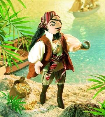 Plyšová hračka: Pirát z Karibiku plyšový | Folkmanis