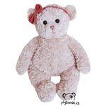 plyšák Medvídek Pola s červenou mašlí