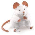 plyšová Bílá myš