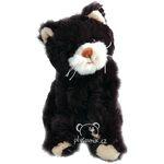 plyšová Černá kočka Bambo, plyšová hračka