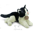 plyšová Černo-bílá kočka Anežka