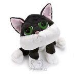 plyšová Černobílá kočka Loki, plyšová hračka