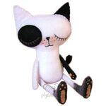 plyšová Emo kočka, plyšová hračka