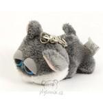 plyšová Klíčenka kočka šedá, plyšová hračka