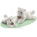 plyšová Kočka bílá menší perská