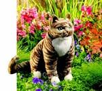plyšová Kočka Tabby
