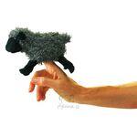 plyšová Maňásek na prst černá ovce