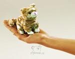 plyšová Maňásek na prst kočka Tabby 1+1 ZDARMA, plyšová hračka