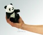 plyšová Maňásek na prst panda