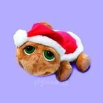 plyšová Menší vánoční želva Shelby s čepicí, plyšová hračka