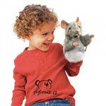 plyšová Myška na ruku, plyšová hračka