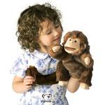 plyšová Opička na ruku, plyšová hračka
