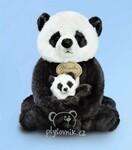 plyšová Panda s miminkem