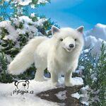 plyšová Polární liška