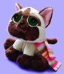 plyšová Siamská kočka Seonmi s šálou, plyšová hračka
