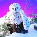 plyšová Sova sněžná