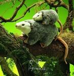 plyšová Vačice s mládětem