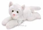 plyšová Velká bílá kočička