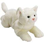 plyšová Velká bílá kočička, plyšová hračka