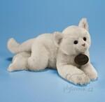 plyšová Velká bílá kočka