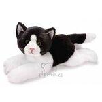 plyšová Velká černo-bílá kočička Anežka