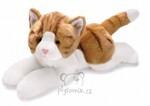 plyšová Velká zrzavo-bílá kočička