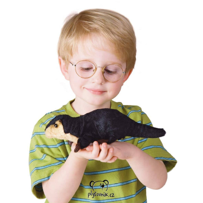 Plyšová hračka: Plyšová vydra na prst plyšová   Folkmanis