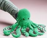 plyšová Zelená chobotnice