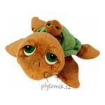 plyšová Želva Sandy s miminkem, plyšová hračka
