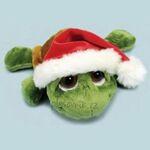 plyšová Želva Shecky se Santa čepicí, plyšová hračka
