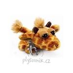 plyšová Žirafa Leda klíčenka, plyšová hračka