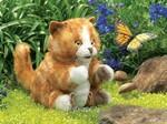 plyšová Zrzavá kočka Tabby, plyšová hračka
