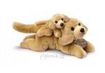 plyšové Labrador se štěnětem, plyšová hračka