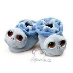plyšové Modré dětské botičky