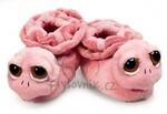 plyšové Růžové dětské botičky