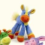 plyšový Barevný koník Dlouhonožka, plyšová hračka