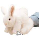 plyšový Bílý králík maňásek, plyšová hračka