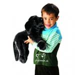 plyšový Černý labrador, plyšová hračka