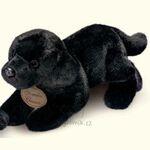 plyšový Černý labrador štěně, plyšová hračka