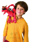 plyšový Červený drak na rameno, plyšová hračka