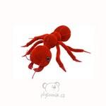 plyšový Červený mravenec