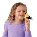 plyšový Čížek žlutý na prst, plyšová hračka
