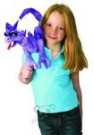 plyšový Fialový drak na rameno, plyšová hračka