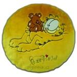 plyšový Garfield kulatý polštář, plyšová hračka