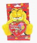 plyšový Garfield s červeným srdcem, plyšová hračka