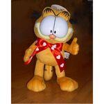 plyšový Garfield s mašlí, plyšová hračka
