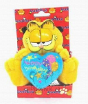 plyšový Garfield s modrým srdcem, plyšová hračka