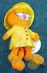 plyšový Garfield ve žluté pláštěnce, plyšová hračka