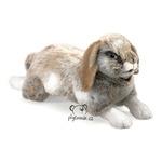 plyšový Holandský králík zakrslý, plyšová hračka